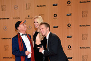 Otto Waalkes (L), Sabine Lisicki and Oliver Pocher attend the Bambi Awards 2015 at Stage Theater on November 12, 2015 in Berlin, Germany.