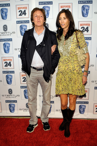 Paul McCartney Musician Paul McCartney arrives with girlfriend Nancy Shevell at the BAFTA/LA 16th Annual Awards Season Tea Party, held at the Beverly Hills Hotel on January 16, 2010 in Beverly Hills, California.