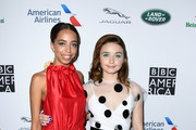 (L-R) Hayley Law and Jessica Barden attends the BAFTA Los Angeles + BBC America TV Tea Party 2019 at The Beverly Hilton Hotel on September 21, 2019 in Beverly Hills, California.