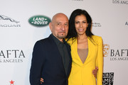 Ben Kingsley (L) and Daniela Lavender attend The BAFTA Los Angeles Tea Party at Four Seasons Hotel Los Angeles at Beverly Hills on January 5, 2019 in Los Angeles, California.