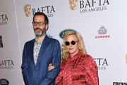 Eric White and Patricia Arquette attend The BAFTA Los Angeles Tea Party at Four Seasons Hotel Los Angeles at Beverly Hills on January 04, 2020 in Los Angeles, California.