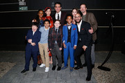 """(Front L-R) Orson Hong, Emeka Guindo, Gabriel Amoroso, Jolly Swag and Victor Almazar and (Back L-R) Jordan Boatman, Rose Byrne, Bobby Cannavale, Madeline Weinstein and Dylan Baker attend the BAM after party for """"Medea"""" at Public Records on January 30, 2020 in New York City."""