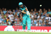 Alex Ross of the Heat bats during the Big Bash League match between the Brisbane Heat and the Hobart Hurricanes at The Gabba on January 10, 2018 in Brisbane, Australia.