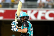 Alex Ross of the Heat plays a shot during the Big Bash League match between the Brisbane Heat and the Perth Scorchers at The Gabba on January 5, 2018 in Brisbane, Australia.