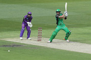 Kevin Pietersen of the Stars bats during the Big Bash League match between the Melbourne Stars and and the Hobart Hurricanes at Melbourne Cricket Ground on January 27, 2018 in Melbourne, Australia.