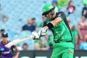 Stars Kevin Pietersen bats during the Big Bash League match between the Melbourne Stars and and the Hobart Hurricanes at Melbourne Cricket Ground on January 27, 2018 in Melbourne, Australia.