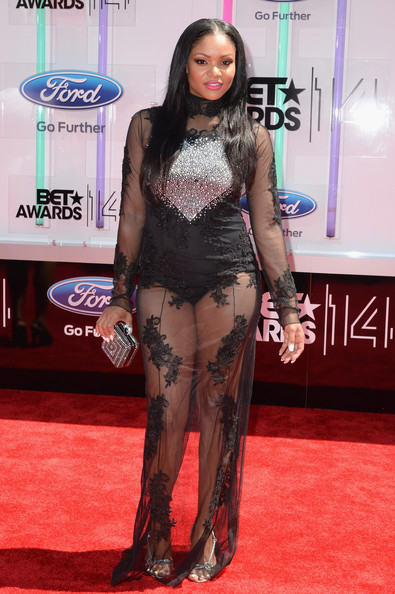 Actress erica hubbard attends the bet awards 14 at nokia theatre l a