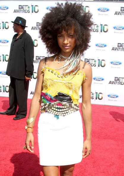 Esperanza Spalding Musician Esperanza Spalding arrives at the 2010 BET Awards held at the Shrine Auditorium on June 27, 2010 in Los Angeles, California.