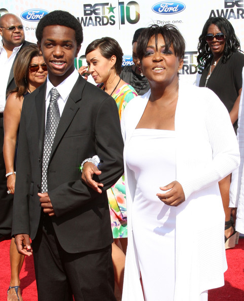 Singer Anita Baker (R) and guest arrive at the 2010 BET Awards held at the Shrine Auditorium on June 27, 2010 in Los Angeles, California.