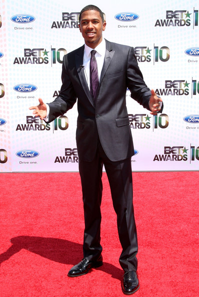 TV personality Nick Cannon arrives at the 2010 BET Awards held at the Shrine Auditorium on June 27, 2010 in Los Angeles, California.