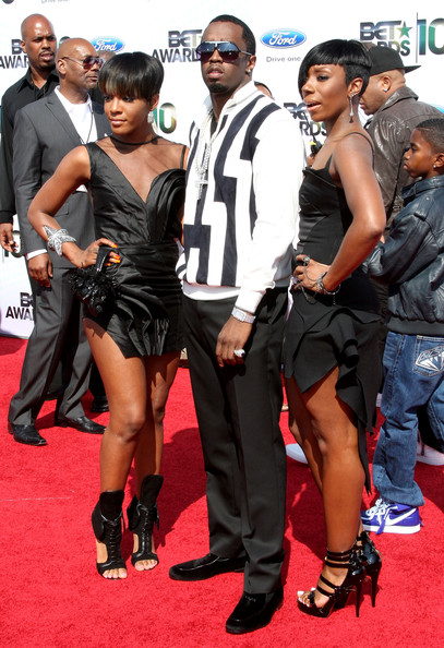 "(L-R) Dawn Richard, Sean ""P. Diddy"" Combs and Kaleena of Diddy-Dirty Money arrive at the 2010 BET Awards held at the Shrine Auditorium on June 27, 2010 in Los Angeles, California."
