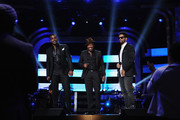 (L-R) Luke James, Anthony Hamilton and Eric Benet perform onstage at BET's Black Girls Rock 2012 at Paradise Theater on October 13, 2012 in New York City.