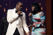 Singers Isaac Carree (L) and Jessica Reedy perform onstage during the BET Celebration of Gospel 2013 at Orpheum Theatre on March 16, 2013 in Los Angeles, California.