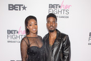 Singers Estelle and Luke James attend the 'BET Her Fights Breast Cancer' special event at Riverside Epicenter on September 20, 2018 in Atlanta, Georgia.