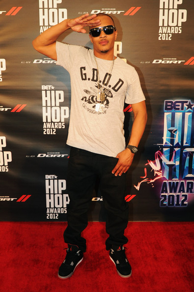 T.I. attends the 2012 BET Hip Hop Awards at Boisfeuillet Jones Atlanta Civic Center on September 29, 2012 in Atlanta, Georgia.
