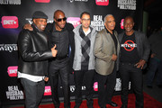 """Chris Spencer, JB Smoove, Jesse Collins, Stan Lathan, and Stephen G. Hill attend BET Networks New York Premiere Of """"Real Husbands of Hollywood"""" And """"Second Generation Wayans"""" at SVA Theater on January 14, 2013 in New York City."""