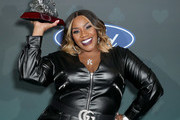 Kelly Price poses backstage at the 2019 Soul Train Awards presented by BET at the Orleans Arena on November 17, 2019 in Las Vegas, Nevada.