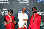 (L-R) Ro James, BJ The Chicago Kid and Luke James attend the 2019 Soul Train Awards presented by BET at the Orleans Arena on November 17, 2019 in Las Vegas, Nevada.