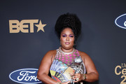 Lizzo poses with the Entertainer of the Year award at the 51st NAACP Image Awards, Presented by BET, at Pasadena Civic Auditorium on February 22, 2020 in Pasadena, California.