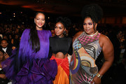 (L-R) Rihanna, Janelle Monáe, and Lizzo attend the 51st NAACP Image Awards, Presented by BET, at Pasadena Civic Auditorium on February 22, 2020 in Pasadena, California.