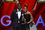 (L-R) Sterling K. Brown and Ryan Michelle Bathé speak onstage during the 51st NAACP Image Awards, Presented by BET, at Pasadena Civic Auditorium on February 22, 2020 in Pasadena, California.