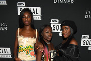 (L-R) Leomie Anderson, Bee, and Sandra Lambeck attend BET's Social Awards 2018 - It Girls Welcome Dinner on February 10, 2018 in Atlanta, Georgia.