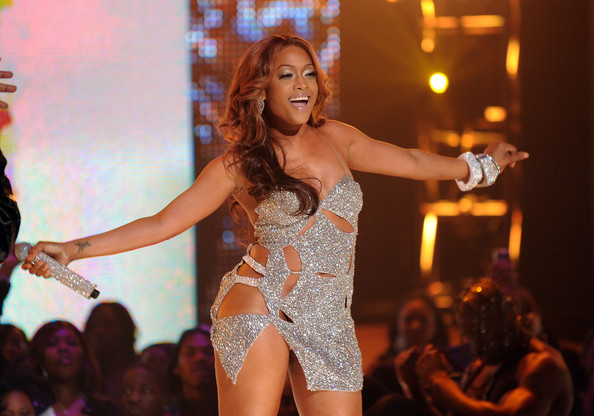 Singer Trina performs onstage at BET's Rip The Runway 2010 at the Hammerstein Ballroom on February 27, 2010 in New York City.