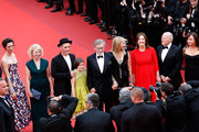 """Rebecca Hall,  Claire van Kampen, Mark Rylance, Ruby Barnhill,  Steven Spielberg, Kate Capshaw, Kathleen Kennedy and Frank Marshall attends """"The BFG (Le Bon Gros Geant - Le BGG)"""" premiere during the 69th annual Cannes Film Festival at the Palais des Festivals on May 14, 2016 in Cannes, France."""
