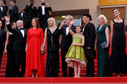 """Frank Marshall, Kathleen Kennedy, Kate Capshaw, Steven Spielberg, Ruby Barnhill, Mark Rylance, Claire van Kampen and Lucy Dahl attend """"The BFG (Le Bon Gros Geant - Le BGG)"""" premiere during the 69th annual Cannes Film Festival at the Palais des Festivals on May 14, 2016 in Cannes, France."""