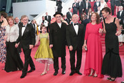 """Rebecca Hall, Penelope Wilton, Steven Spielberg, Ruby Barnhill, Mark Rylance, Frank Marshall, Kathleen Kennedy and Lucy Dahl attend """"The BFG (Le Bon Gros Geant - Le BGG)"""" premiere during the 69th annual Cannes Film Festival at the Palais des Festivals on May 14, 2016 in Cannes, France."""