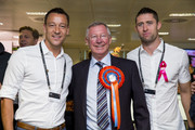 John Terry; Sir Alex Ferguson and Gary Cahill attend the annual BGC Global Charity Day at BGC Partners on September 11, 2014 in London, England.