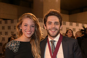 Lauren Gregory and singer-songwriter Thomas Rhett attend the BMI 2014 Country Awards at BMI on November 3, 2014 in Nashville, Tennessee.