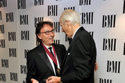 (L-R) Donk Black and Sir George Martin attend the BMI Awards held at The Dorchester Hotel on October 5, 2010 in London, England.