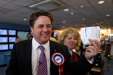 Jackie Griffin The BNP Hold A Campaign Meeting Ahead of The General Election