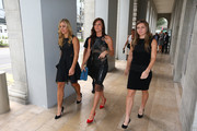 Angelique Kerber of Germany, Agnieszka Radwanska of Poland and Simona Halep of Romania attend the official photo shoot for the BNP Paribas WTA Finals  at the National Gallery on October 23, 2015 in Singapore.