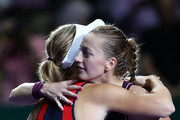 Caroline Wozniacki and Petra Kvitova Photos Photo
