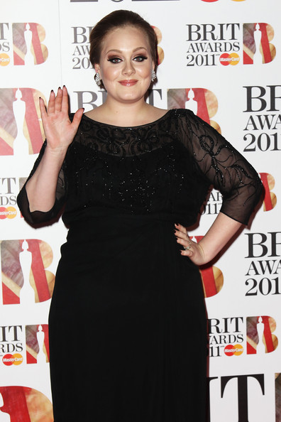 Adele in The BRIT Awards 2011 - Inside Arrivals