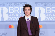(EDITORIAL USE ONLY) Harry Styles attends The BRIT Awards 2020 at The O2 Arena on February 18, 2020 in London, England.