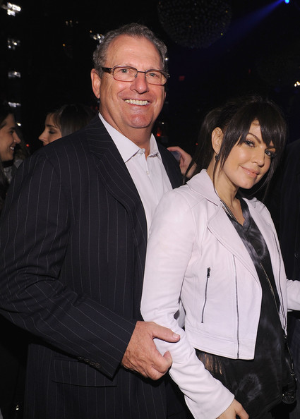 President and CEO of Bacardi John Esposito and Fergie of the Black Eyed Peas attend the Bacardi VIP Room For The Black Eyed Peas After Party at M2 Ultra Lounge on February 24, 2010 in New York, New York.