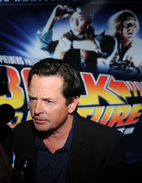 Michael j fox pictures back to the future 25th anniversary trilogy