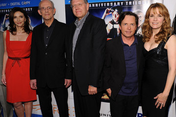 Michael J. Fox Lea Thompson 'Back To The Future' 25th Anniversary Trilogy Blu-Ray Release Celebration