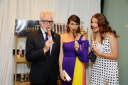 (L-R) Bradley Whitford, Amy Landecker and Mary Louisa Whitford attend Backstage Creations Giving Suite At The Emmy Awards - Day 2 at Microsoft Theater on September 22, 2019 in Los Angeles, California.