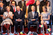 Queen Paola, King Albert II of Belgium, Prince Philippe of Belgium and Princess Mathilde of Belgium  attend the 'Bal National' Held Ahead Of Belgium Abdication & Coronation on July 20, 2013 in Brussels, Belgium.