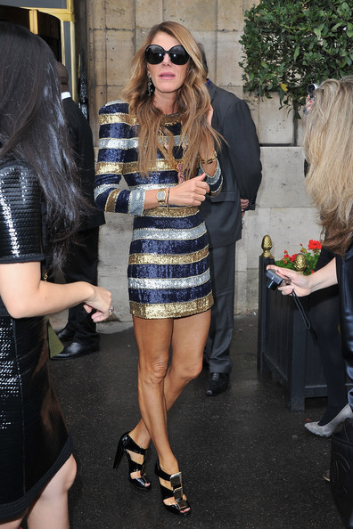 Anna dello Russo attends the Balenciaga Ready to Wear Spring/Summer 2011 show during Paris Fashion Week on September 30, 2010 in Paris, France.