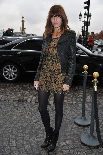 Lou Doillon arrives for the Balenciaga Ready to Wear Spring/Summer 2011 show during Paris Fashion Week on September 30, 2010 in Paris, France.