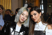 Irene Kim (L) and Negin Mirsalehi attend the Balmain show as part of the Paris Fashion Week Womenswear Fall/Winter 2018/2019 on March 2, 2018 in Paris, France.