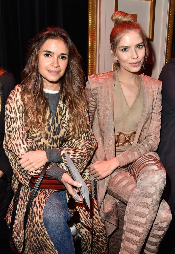 Miroslava Duma Photos Photos Balmain Front Row Paris