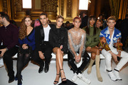 (2L-R) Jon Kortajarena, María Pedraza, a guest, Jourdan Dunn and guest attend the Balmain Womenswear Spring/Summer 2020 show as part of Paris Fashion Week on September 27, 2019 in Paris, France.