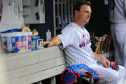 Jay Bruce #19 of the New York Mets reacts after grounding out during the seventh inning of a game against the Baltimore Orioles at Citi Field on June 6, 2018 in the Flushing neighborhood of the Queens borough of New York City. The Orioles defeated the Mets 1-0.