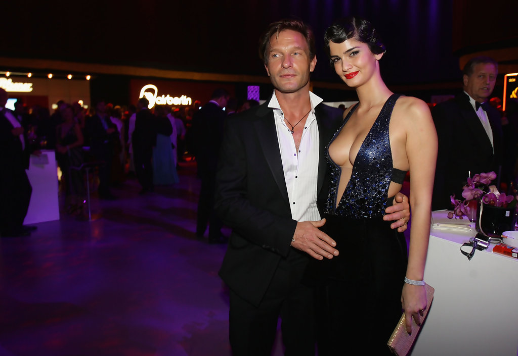 Thomas Kretschmann with German model ex-girlfriend Shermine Shahrivar at 2009's Bambi After Show Party